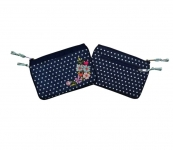 Charlie Spotty Floral  Purse Navy Blue