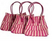 Jacinda Pretty Pink Straw Fairtrade Handbag