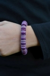 Chickle Fair Trade Tagua Bracelet Purples