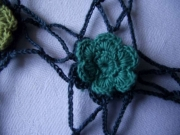 Loretta Crochet Flower Shawl Green
