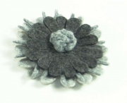Double Daisy Fair Trade Felt Brooches