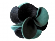 Dahlia Fair Trade Felt Flower Brooch