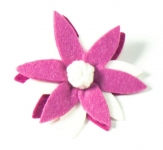 Lotus Fair Trade Felt Flower Brooch