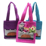 Medieval  Fairtrade Felt finger Puppet Bag by Felt So Good