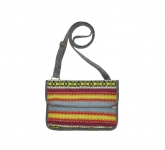 Fair Isle Fairtrade Handbag by Earth Squared Grey