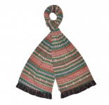 Fair Isle Fairtrade Jersey Scarves by Earth Squared Brown