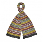 Fair Isle Fairtrade Jersey Scarves by Earth Squared Grey
