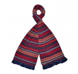 Fair Isle Fairtrade Jersey Scarves by Earth Squared Navy