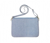 Messenger Linen Handbag Blue