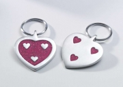 Recycled Aluminium heart shaped Fair Trade keyring