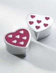 Recycled Aluminium heart shape Fair Trade box
