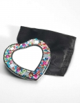 Heart shaped  Fair Trade gem mirror