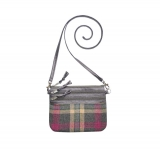 Fairtrade Tweed Pouch Bag by Earth Squared Grey Pink