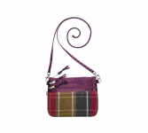 Fairtrade Tweed Pouch Bag by Earth Squared Plum