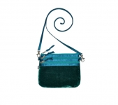 Fairtrade Velvet Pouch Bag by Earth Squared  Green