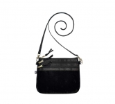 Fairtrade Velvet Pouch Bag by Earth Squared Black