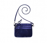 Fairtrade Velvet Pouch Bag by Earth Squared Blue
