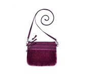 Fairtrade Velvet Pouch Bag by Earth Squared Plum