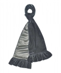 Fairtrade Velvet and Satin Scarves by Earth Squared Grey