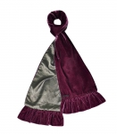 Fairtrade Velvet and Satin Scarves by Earth Squared Plum