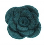 Onion Fair Trade Felt Flower Brooch