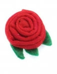 String Fair Trade Felt Flower  Brooch