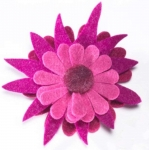 Supernova Felt Flower Fair Trade Brooch