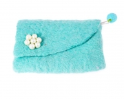 Pearl  Retro Felt Purse