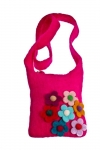Secret Garden Felt Flowers Shoulder Bag