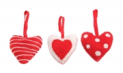 Felt Xmas Decorations Hearts