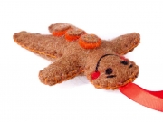 Felt gingerbread man Xmas Decoration