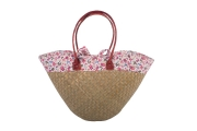 Floral Raffia Straw  Fairtrade Beach or Shopping Bag