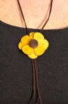 Florosa Fair Trade Tagua NecklaceYellow