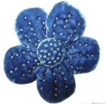 Freya Beaded Velvet Flower Brooch