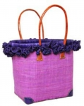 Frilly Raffia Straw  Fairtrade Beach or Shopping Bag