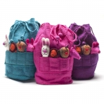 Furry Friends Fairtrade Felt Finger Puppet Rucksack by Felt So Good