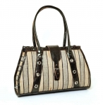 Gambela Straw & cotton Handbag