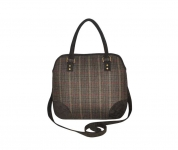 Grace Fairtrade Tweed Handbag by Earth Squared Green