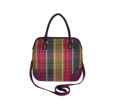 Grace Fairtrade Tweed Handbag by Earth Squared Plum