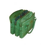 Alice Metallic Linen Handbag Green