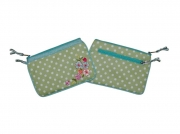 Charlie Spotty Floral Purse Green