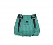 Ava Tweed Handbag Green and Plum