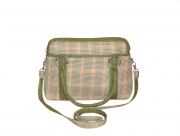 Haddington  Fairtrade Tweed Bag Sage Green by Earth Squared