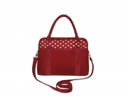 Haddington Fairtrade Felt Handbag by Earth Squared Red