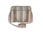 Haddington Fairtrade Linen Bag by Earth Squared Pastel Stripes