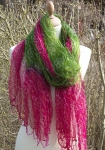Hand Woven Fairtade Scarf Twisted Rainbow