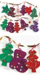 Handmade felt Fair Trade Xmas decoration with embroidery