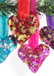 Hanging heart on ribbon Fair Trade Christmas Decoration