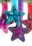 Hanging star on ribbon Fair Trade Christmas Decoration