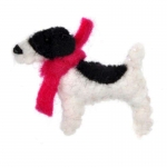 Jamie Jack Russell Dog Felt Brooch